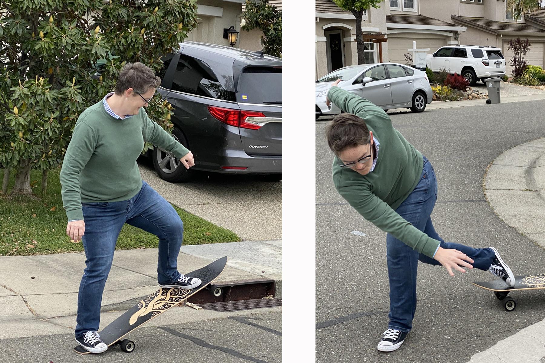 Stephanie Skateboarding