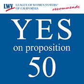 YES on proposition 50 graphic