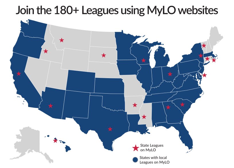 Map of Leagues using MyLO (180+ subscribers)