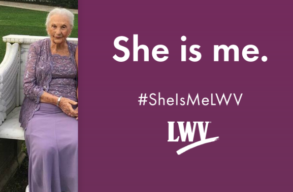 She is Me, Rita Barscak, LWV Los Angeles, 100 years strong, women power the vote, suffrage centennial, California, grassroots