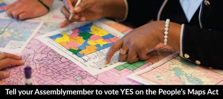 people maps act action alert, sb 139, California, gerrymandering, redistricting, political power, LWV