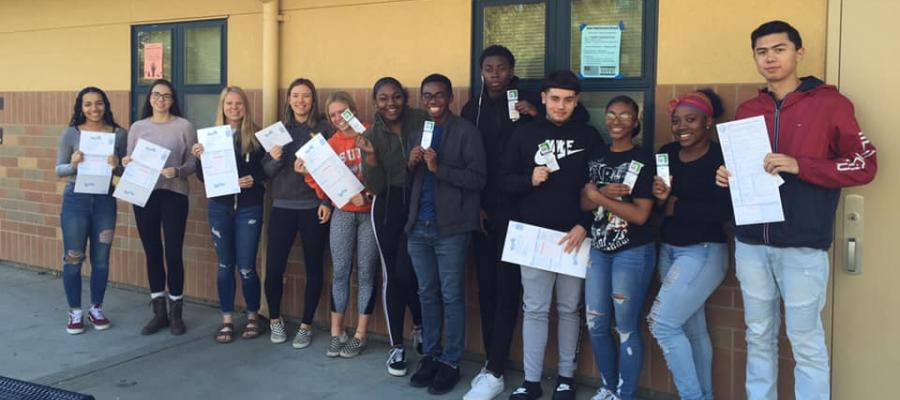 Cosumnes Oaks, High School, Voter Registration, cavotes, California, voting, elections, votersedge, youth vote