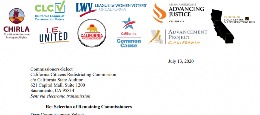 California Redistricting Commission lacks representation, gerrymadering, California, League of women voters