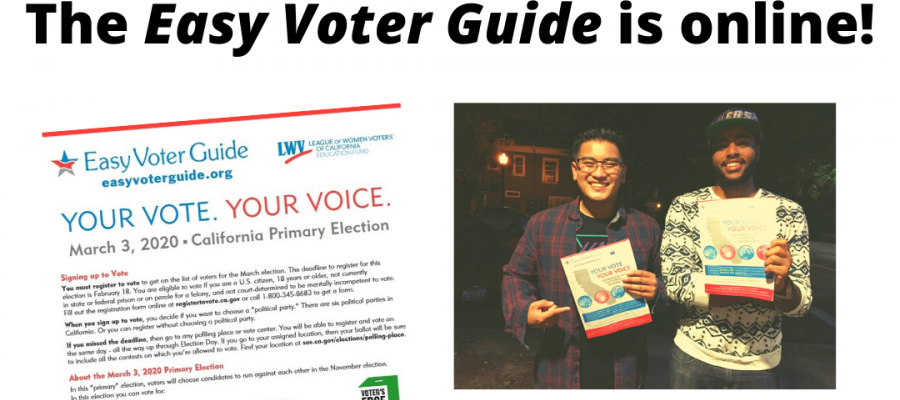 Easy Voter Guide, California, elections, voting, cavotes, ballot measures, hoe to vote, elections, caelections, Prop 13, March 3 primary