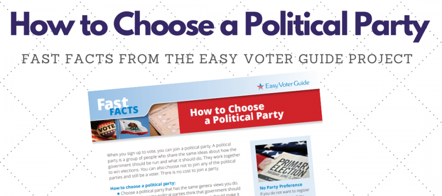 How to choose a political party when registering to vote | LWVC.org