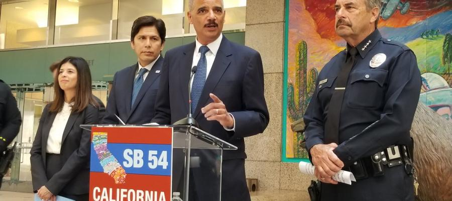 sb 54, california values act, eric holder, league of women voters of california, immigration
