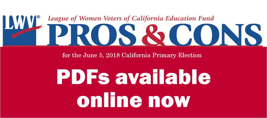 pros and cons on ballot measures, elections, voting, California, Prop 68, Prop 69, Prop 70, Prop 71, Prop 72, CAvotes