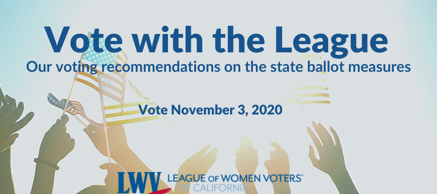 Vote with the League flyer, ballot measure recommendations, League of Women Voters, voting, endorsements, elections, propositions