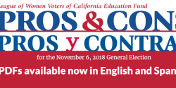 pros and cons on the November ballot measures,