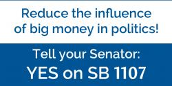 SB 1107, advocacy, league of women voters of california, dark money, politics,