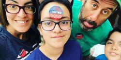 Family ivoted picture, cavotes, elections, California, Los Angeles, Sarah Levy